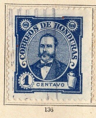 Honduras 1896 Early Issue Fine Used 1c. 094241