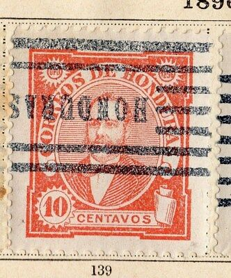 Honduras 1896 Early Issue Fine Used 10c. 094244