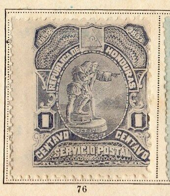 Honduras 1892 Early Issue Fine Mint Hinged 1c. 094257