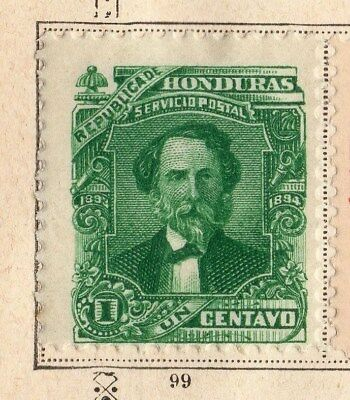 Honduras 1893 Early Issue Fine Mint Hinged 1c. 094268