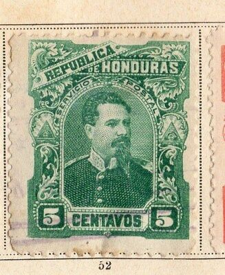 Honduras 1891 Early Issue Fine Mint Hinged 5c. 094305