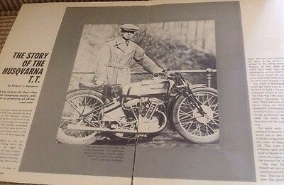 9 Pages History Of Husqvarna TT Road Racer Machines 1930s 1919 Etc.