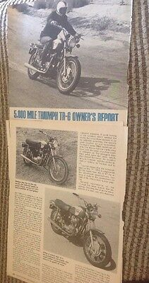 2 Page Ad +4 Page Owners Test Report 1971 Triumph Tiger 650 Street Motorcycycle