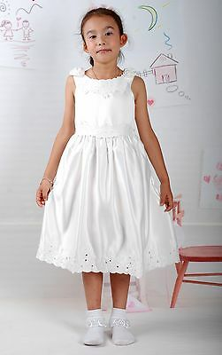 New Ivory Satin Flower Girl Party Bridesmaid Wedding Pageant Dress 2-3 Years