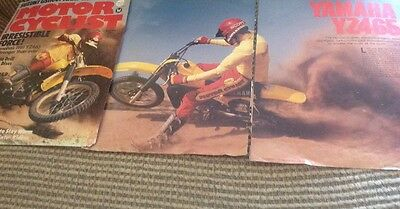 8 Pages Classic Race Test 1981 Yamaha YZ465 Motocross Motorcycle