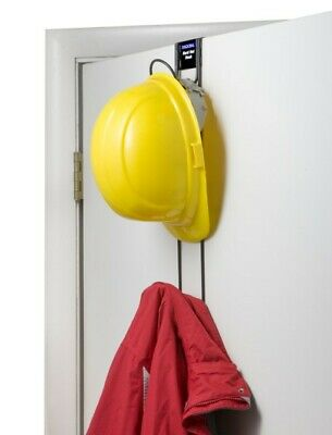 Rackems Over the Door Rack Holds Hard Hat - Coat - Purse - 2-Hook