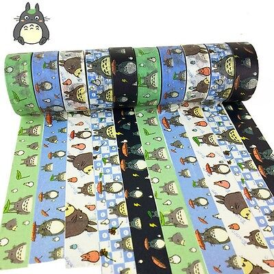 My Neighbor Totoro Paper Maksing Washi Tape DIY Scrapbook Stickers Random Ship