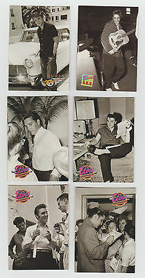 Lot of 6 Elvis trading cards, Published 1992