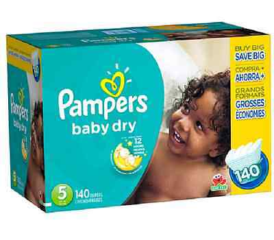 Pampers Baby Dry Size 5 Diapers Super Economy Pack - 140 Count