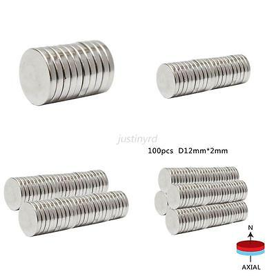 10/20/50PC New Super Strong 12mm x 2mm Disc Neodymium Magnets Rare-Earth Magnet