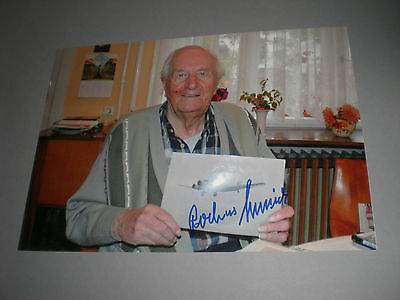 Rochus Misch  signed autograph Autogramm 8x11 photo in person