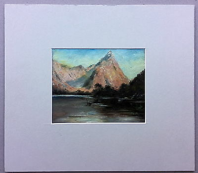 New Zealand Mountain Scene Unframed oil painting