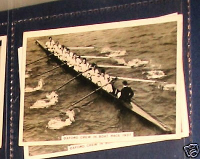 Oxford crew in boat race 1937 sport cig card