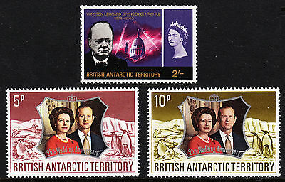 British Antarctic Territory — Scott 19, 43-44 —  Mnh — Scv $32.25