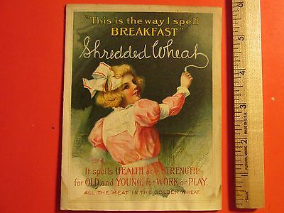 Antique Vintage 1910 illus Shredded Wheat Cereal Advertising Booklet