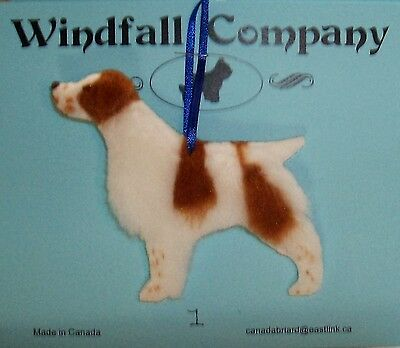 Brittany Dog Soft Plush Canine Christmas Ornament # 1 by WC