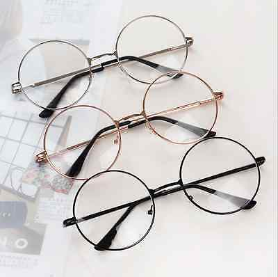 Unisex Round Presbyopic Reading Glasses Metal Frame Retro Personality Eyeglass D