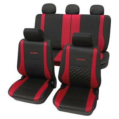 Exclusive Red & Black Luxury Car Seat Covers - For Fiat 500 2007 Onwards