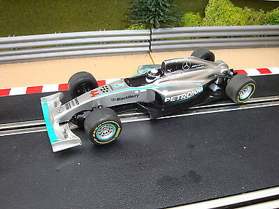 USED SCALEXTRIC MERCEDES PETRONAS FORMULA ONE CAR No44 LEWIS HAMILTON