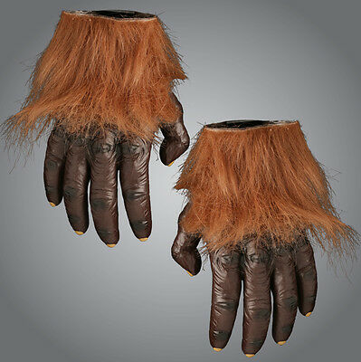 Werewolf Hairy Hand Gloves - Hands for Wolf - Monster Halloween Costume Scary