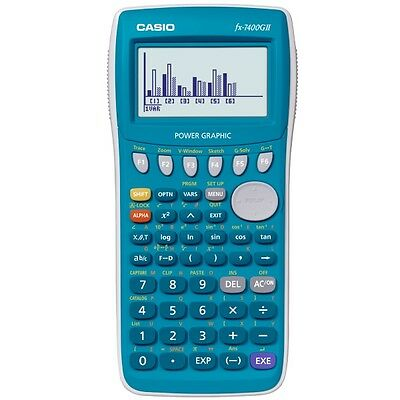 Casio FX-7400GII FX-7400G II Blue Power Graphic Graphing Calculator NEW