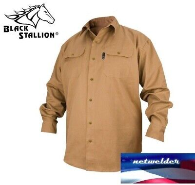 Revco Black Stallion Fr Flame Resistant Cotton Work Shirt - Fs7-Khk