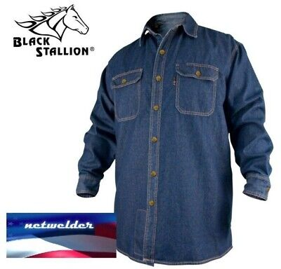 Revco Black Stallion Fr Flame Resistant Denim Work Shirt - Fs8-Dnm