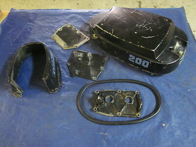 Mercury Model 200 20 HP Outboard Engine Top Cover & Misc Parts Lot