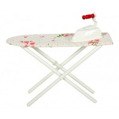 Maileg Miniature Furniture - Metal Ironing Board & Iron With Cream Cover