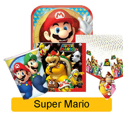 SUPER MARIO - Birthday PARTY RANGE (Tableware, Balloons & Decorations) Amscan