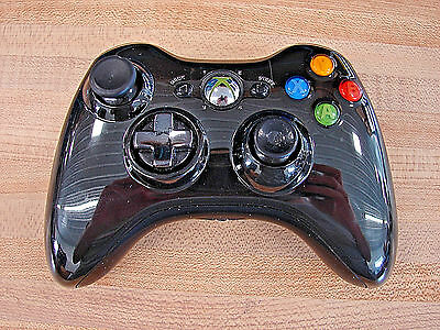 Official Microsoft Xbox 360 Chrome Series Wireless Controller -- Black