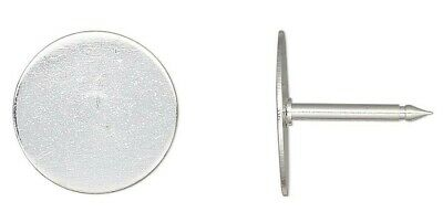 10 OR 100 Silver Plated Brass Tie Tacs 12mm / Make Anything a Tie Tack