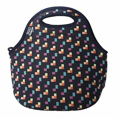 BUILT NY Gourmet Getaway LUNCH TOTE Bag Insulated NEOPRENE - PIXEL CONFETTI