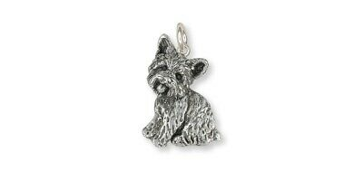 Yorkie Yorkshire Terrier  Charm Solid Sterling Silver YK34-C