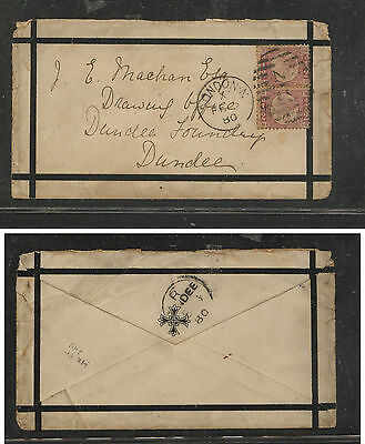Great  Britain  58 (2) on mourning cover  1880       MS0805