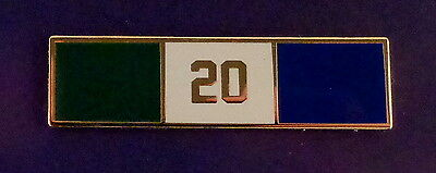20 YEARS OF SERVICE Uniform Commendation/Award Bar police/sherifff/fire/EMS