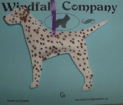 Liver Spotted Dalmatian Dog Velour Plush Christmas Canine Ornament by WC # 6