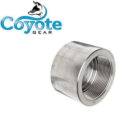 "3000 PSI 1-1/4"" NPT Pipe Thread Cap Forged 304 Stainless Steel Lead & Brass Free"