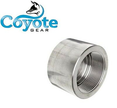 "3000 PSI 3/4"" NPT Pipe Thread Cap Forged 304 Stainless Steel, Lead & Brass Free"
