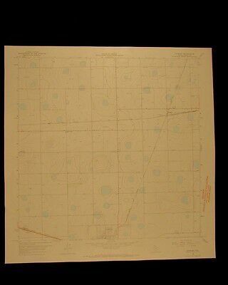 Sterley Texas vintage 1967 original USGS Topographical chart