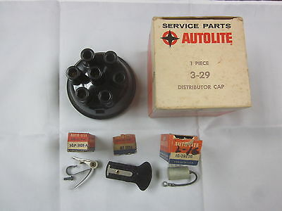 Massey Harris Nos Autolite 6 Cyl Cap Rotor Points Condenser Igz Distributor
