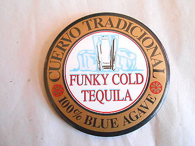 Vintage 1989 Cuervo Traditional Funky Cold Tequila Advertising Pinback Button