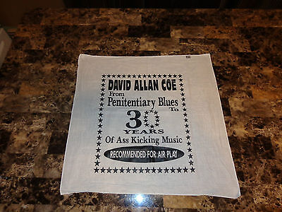 David Allan Coe Rare 30th Anniversary Flag Bandana Cloth Sign Country Music REAL