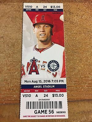 2016 Los Angeles Angels Vs Seattle Mariners Ticket Stub 8/15 Mike Trout Hr #162