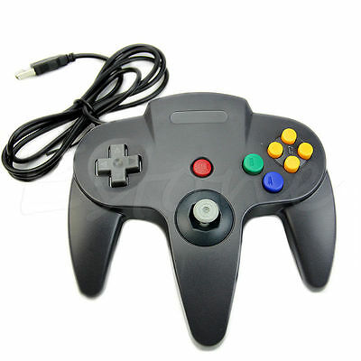 Retrolink Wired Classic Nintendo 64 N64 Black USB Controller for PC Computer