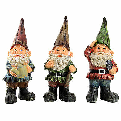 Traditional Large 39cm Garden Gnome Ornament / Outdoor Statue