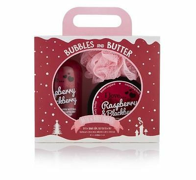 I Love… Raspberry & Blackberry Bubbles and Butter Gift Set