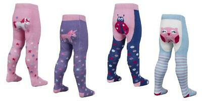 New Baby Girls Panda Cat Owl Fun Bum Tights 0-6-12-18-24 Months Tick Tock