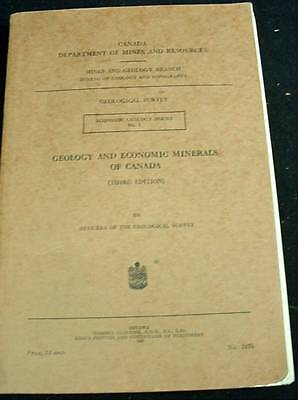 Geology & Economic Minerals Of Canada 1949 Dept Of Mines Book Maps Photos More