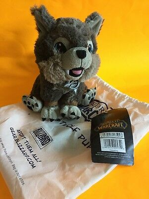 World of Warcraft (WoW) Authentic Frostwolf Pup Plush with Bag NWT